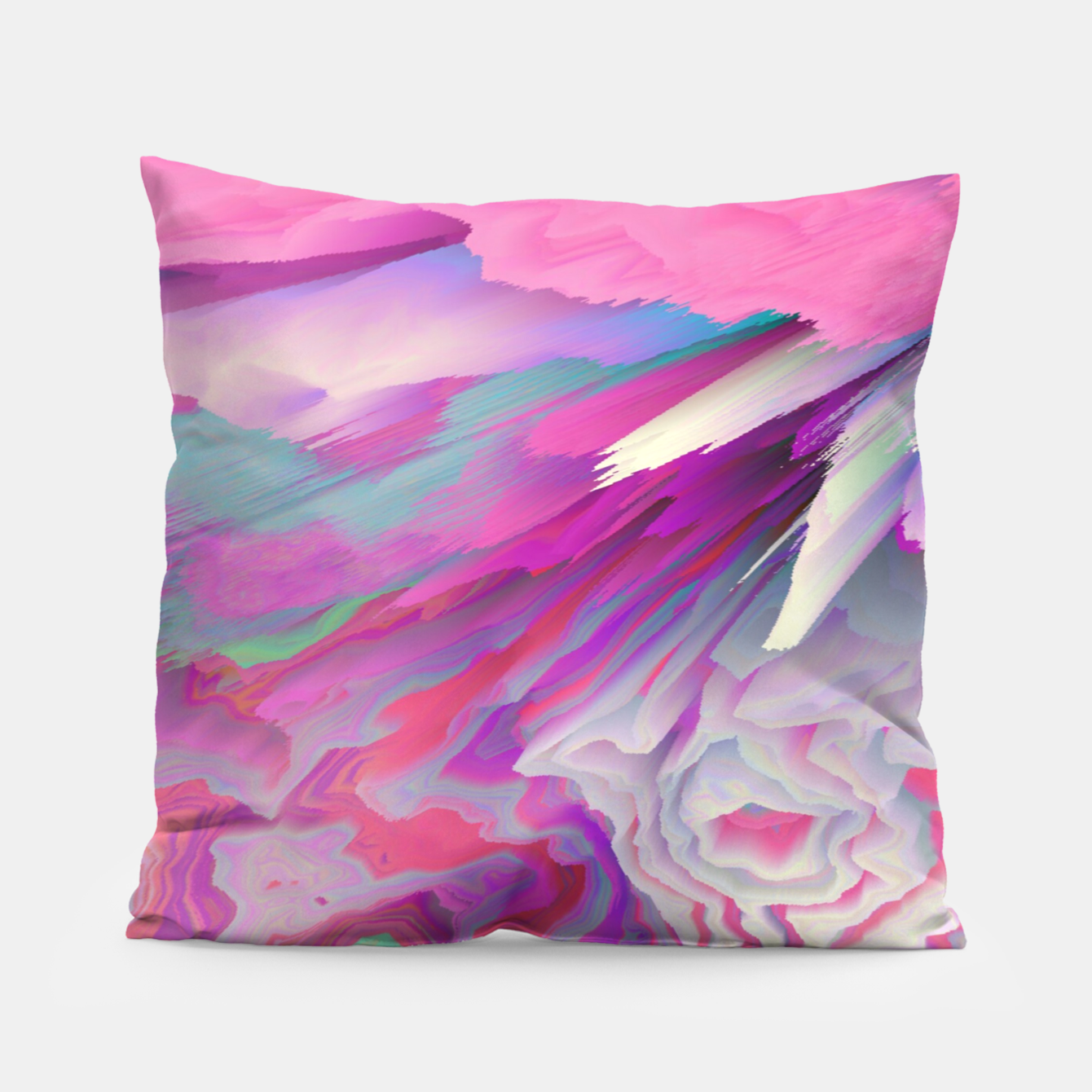 Image of Loud Silence Glitched Fluid Art Pillow - Live Heroes