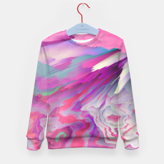 Loud Silence Glitched Fluid Art Kid's sweater thumbnail image