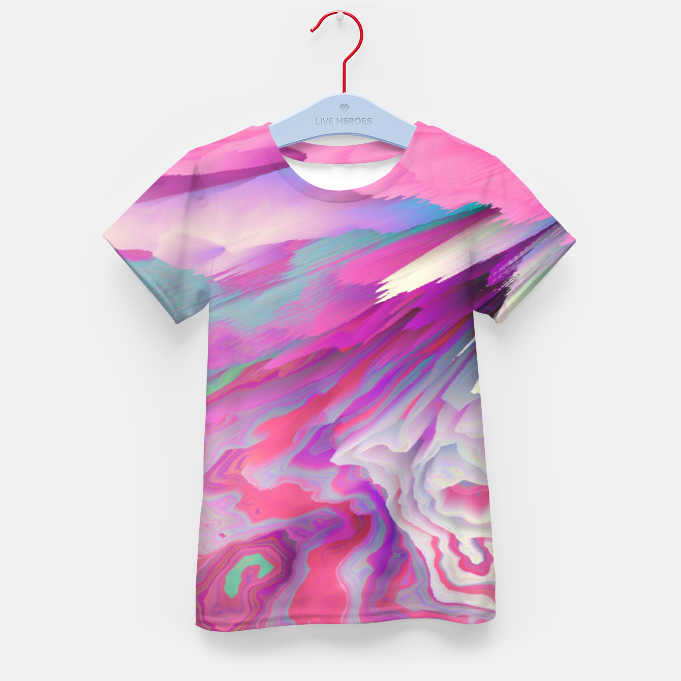 Image of Loud Silence Glitched Fluid Art Kid's t-shirt - Live Heroes