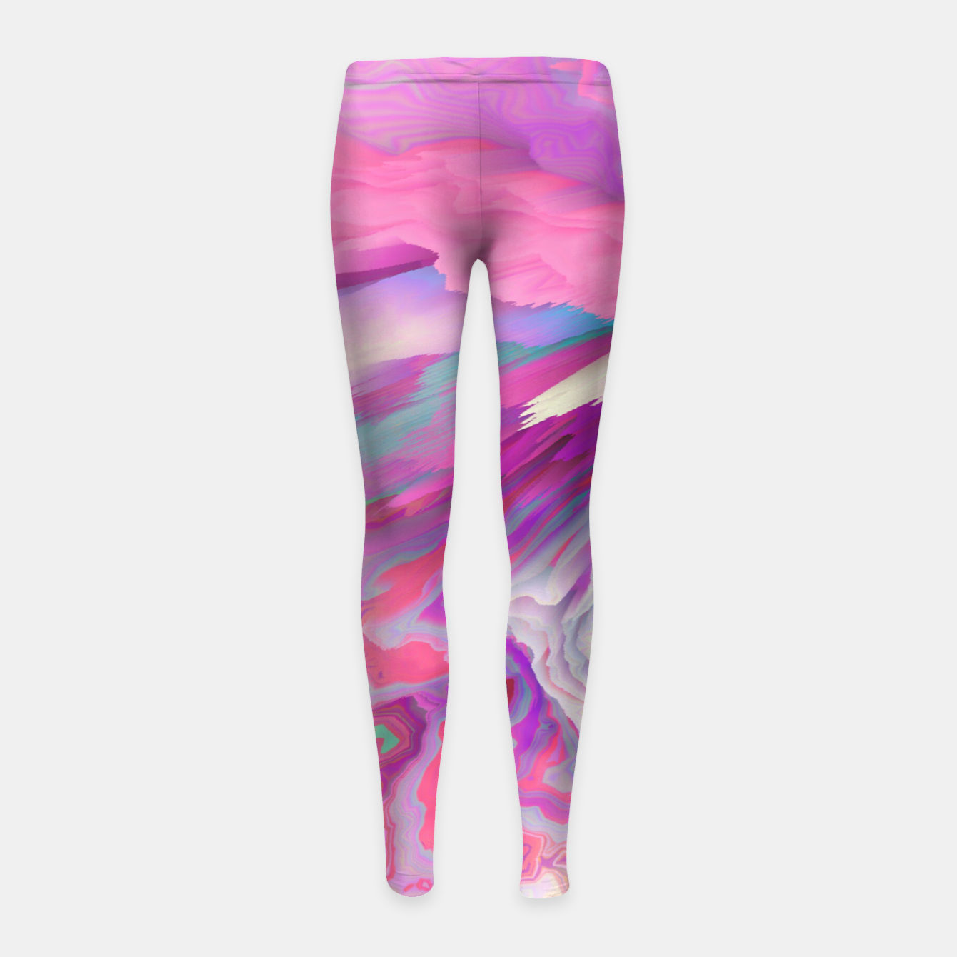 Image of Loud Silence Glitched Fluid Art Girl's leggings - Live Heroes