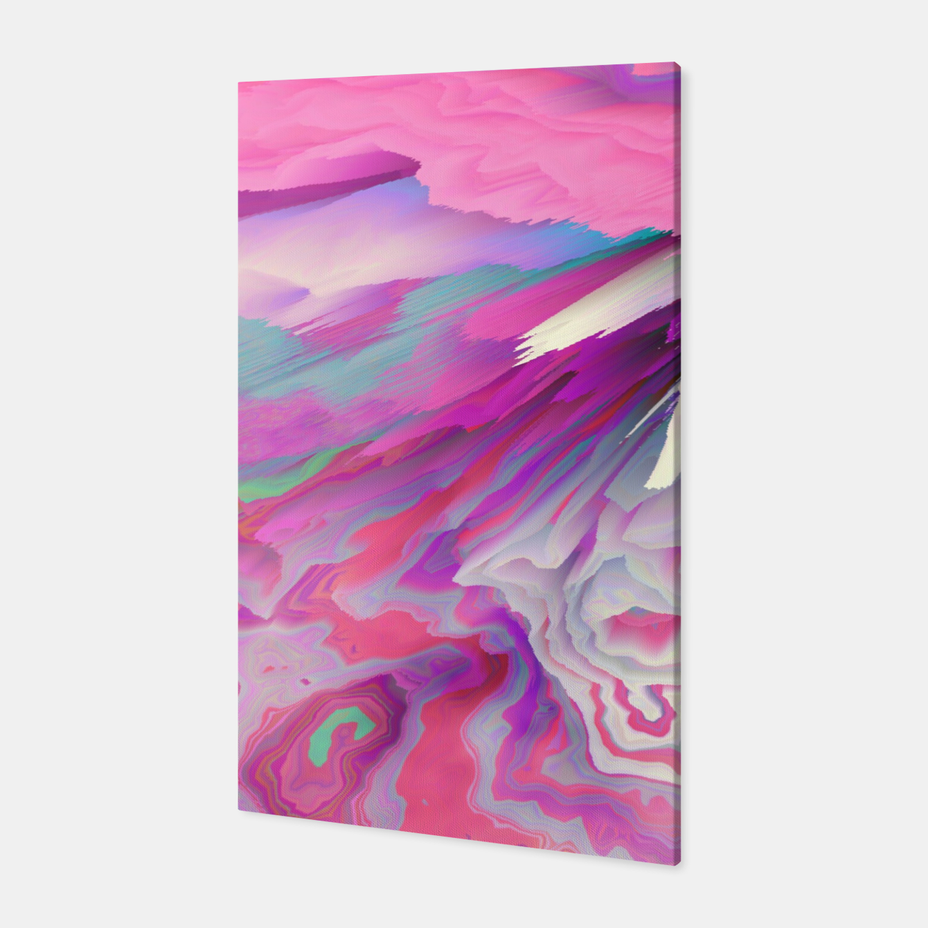 Image of Loud Silence Glitched Fluid Art Canvas - Live Heroes