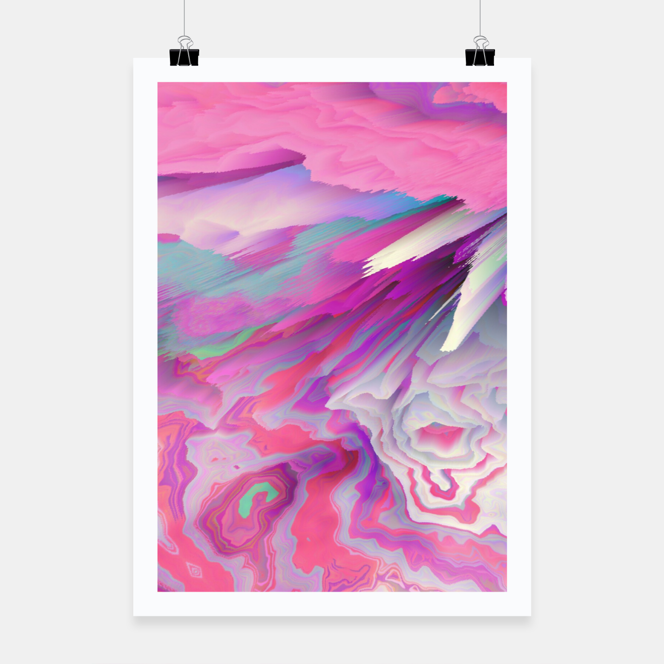 Image of Loud Silence Glitched Fluid Art Poster - Live Heroes