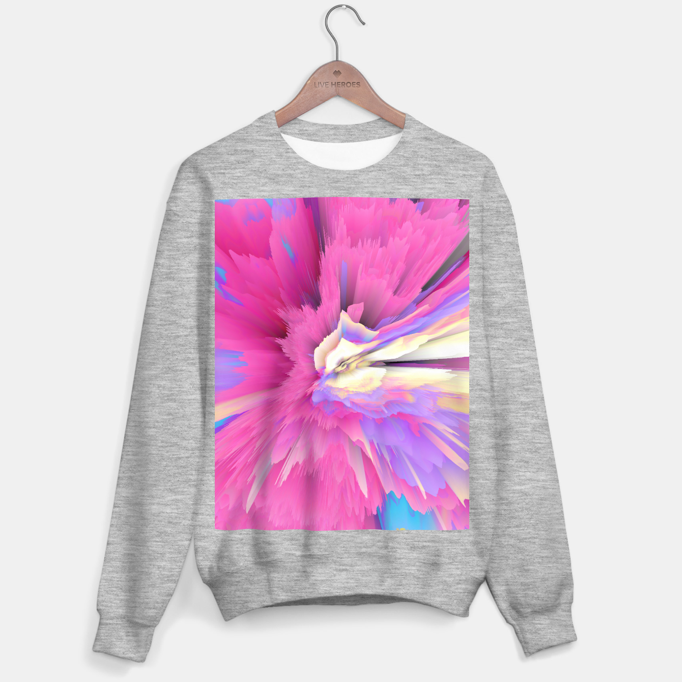 Image of Eternal Ephemera Glitched Fluid Art Sweater regular - Live Heroes