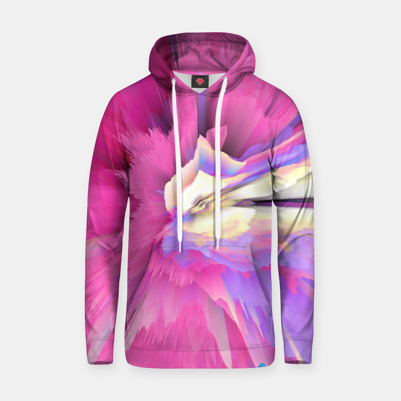 Image of Eternal Ephemera Glitched Fluid Art Hoodie - Live Heroes