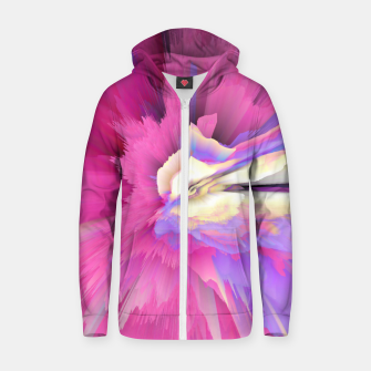 Eternal Ephemera Glitched Fluid Art Zip up hoodie thumbnail image