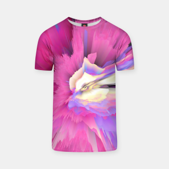 Miniatur Eternal Ephemera Glitched Fluid Art T-shirt, Live Heroes