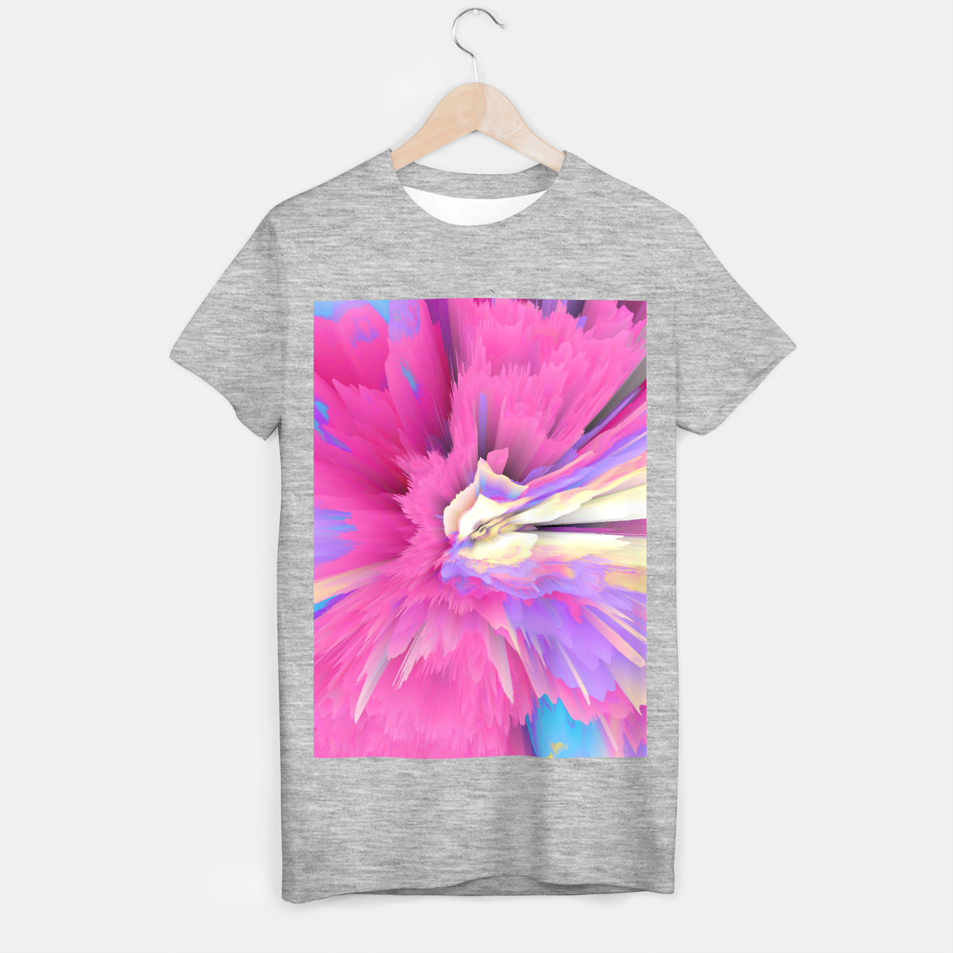 Image of Eternal Ephemera Glitched Fluid Art T-shirt regular - Live Heroes
