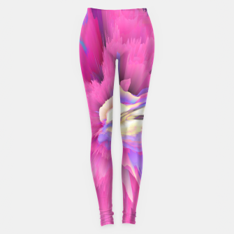 Eternal Ephemera Glitched Fluid Art Leggings thumbnail image