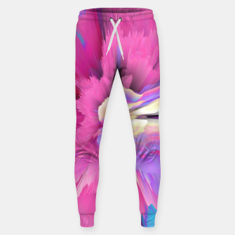 Thumbnail image of Eternal Ephemera Glitched Fluid Art Sweatpants, Live Heroes