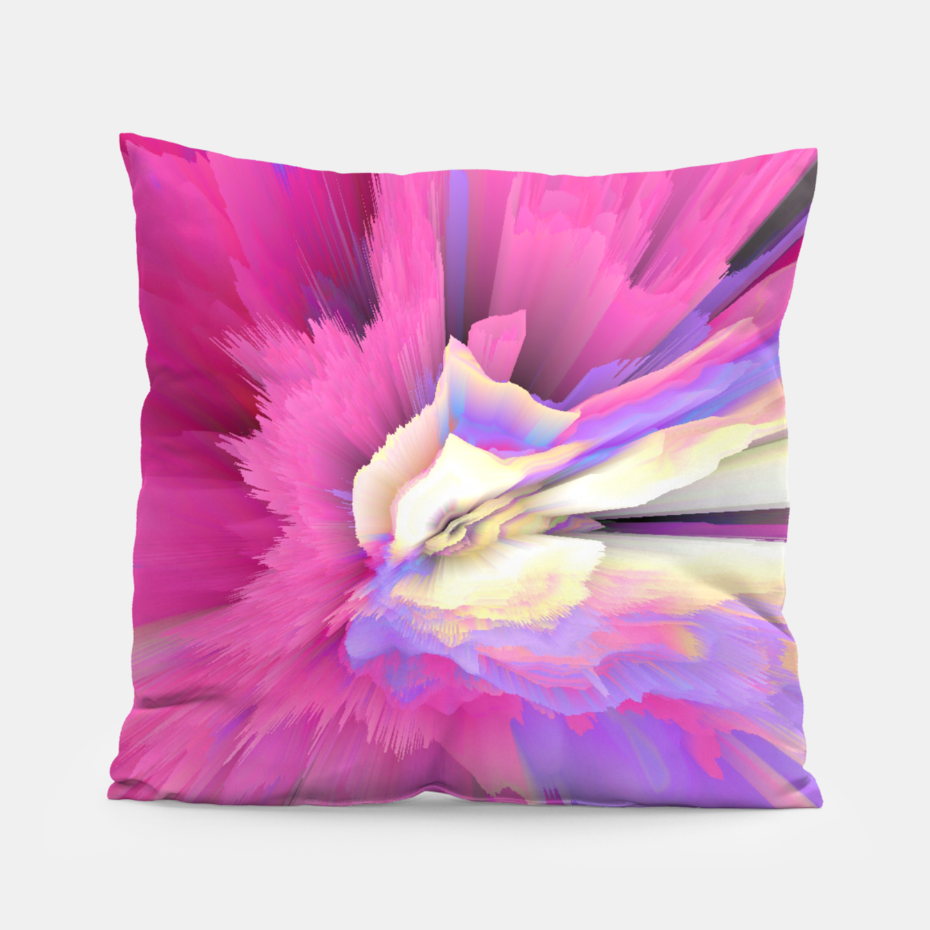 Image of Eternal Ephemera Glitched Fluid Art Pillow - Live Heroes