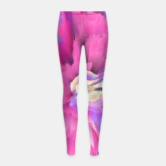 Miniatur Eternal Ephemera Glitched Fluid Art Girl's leggings, Live Heroes