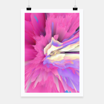 Thumbnail image of Eternal Ephemera Glitched Fluid Art Poster, Live Heroes