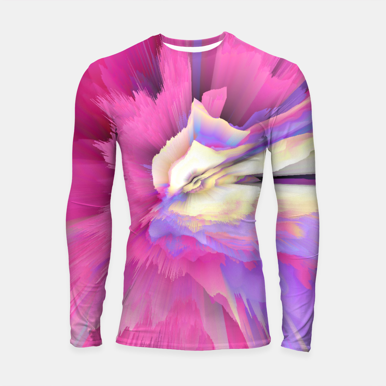 Image of Eternal Ephemera Glitched Fluid Art Longsleeve rashguard  - Live Heroes