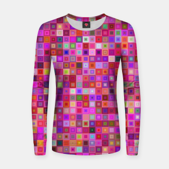 Thumbnail image of Pink Mosaic Women sweater, Live Heroes