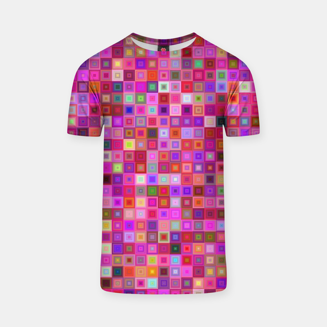 Image of Pink Mosaic T-shirt - Live Heroes