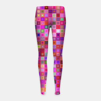 Pink Mosaic Girl's leggings thumbnail image