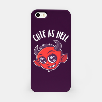 Cute as Hell Devil iPhone Case thumbnail image