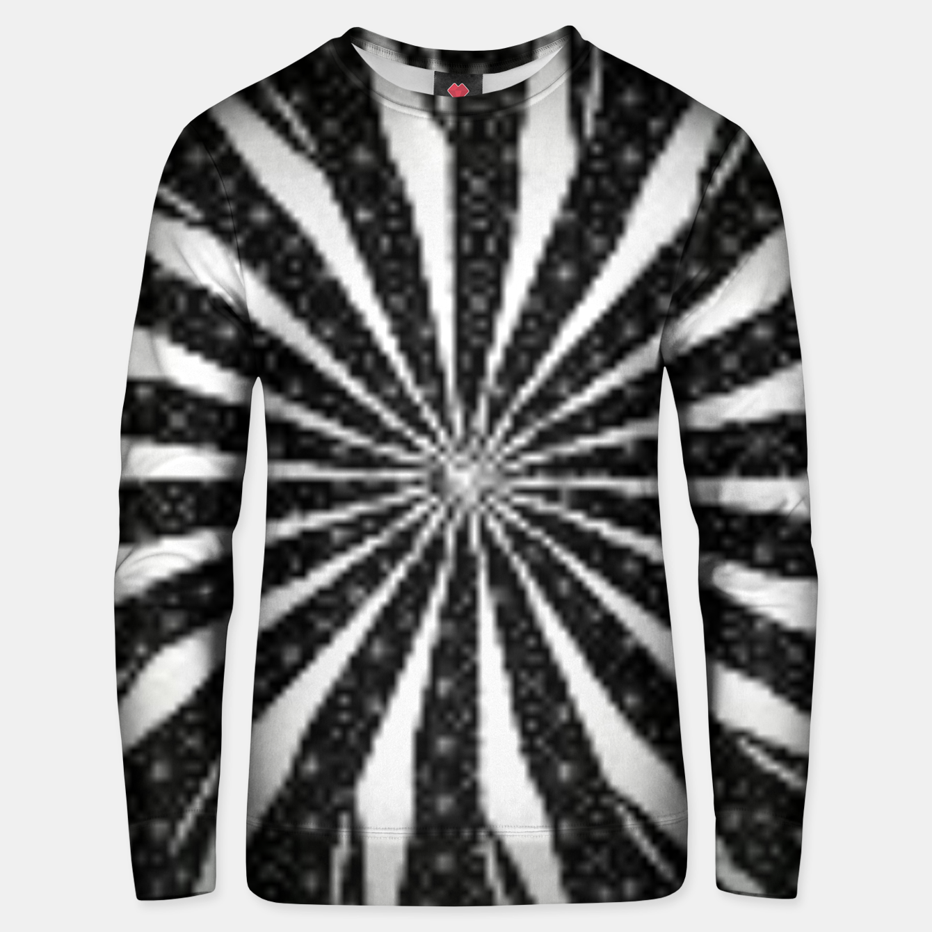 Image of Black and White Optical Illusion  Unisex sweater - Live Heroes