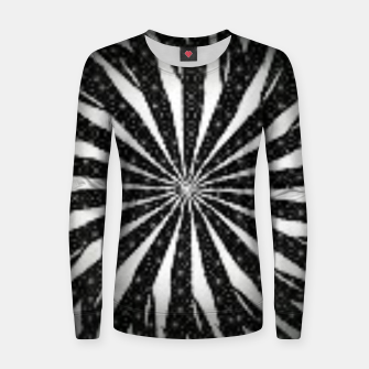 Black and White Optical Illusion  Women sweater miniature