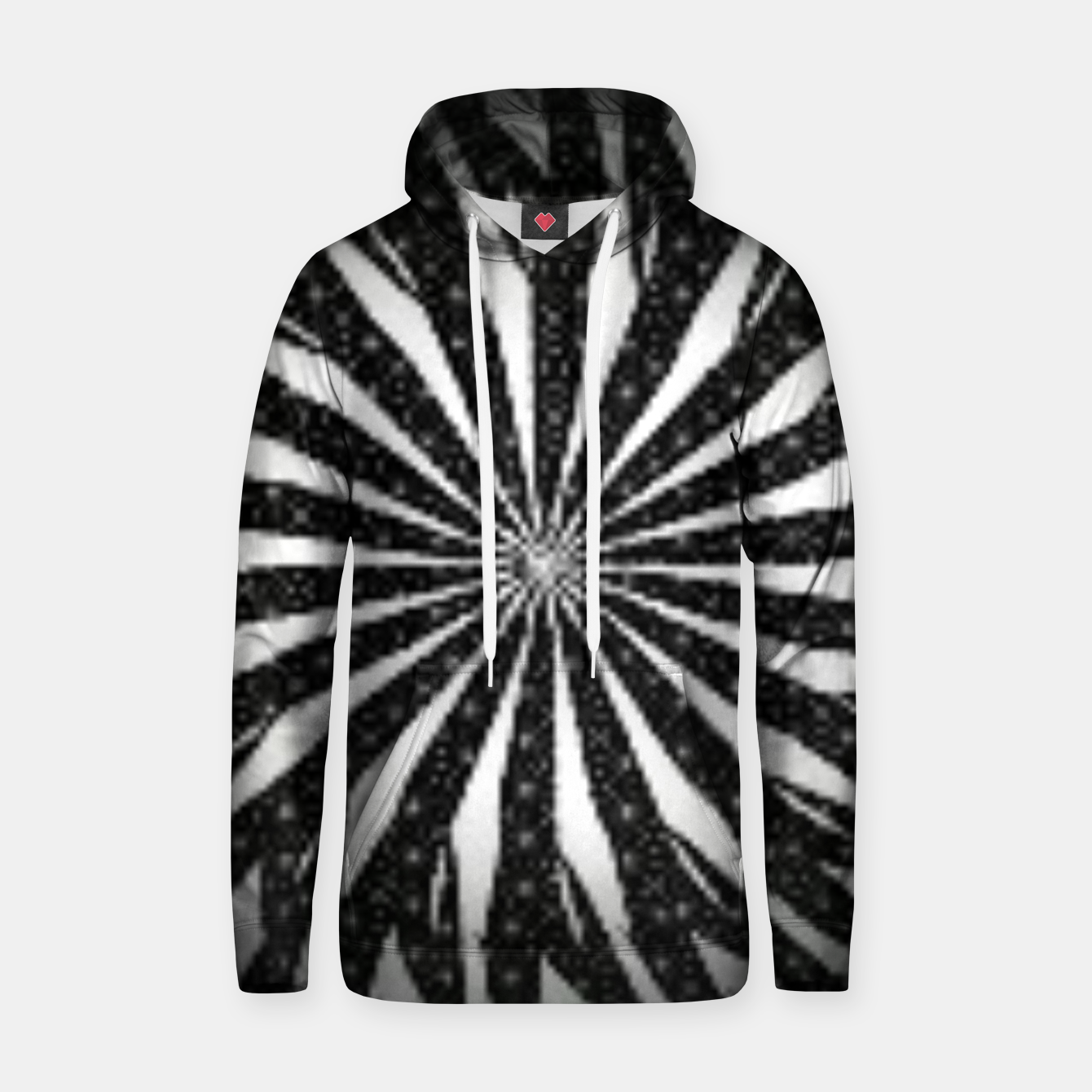 Image of Black and White Optical Illusion  Hoodie - Live Heroes
