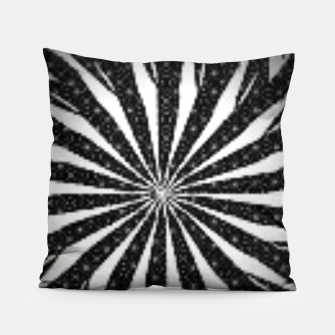 Black and White Optical Illusion  Pillow thumbnail image