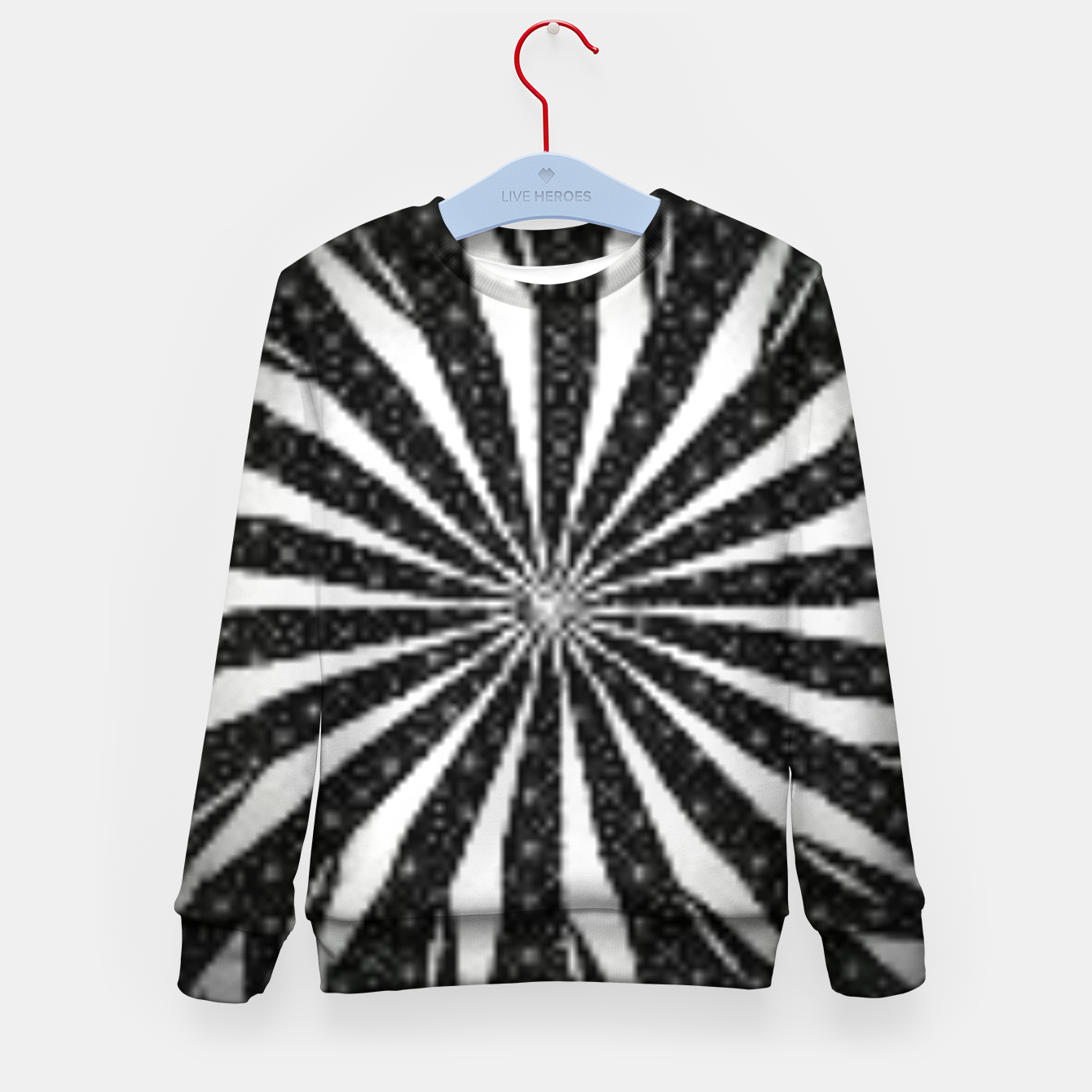 Image de Black and White Optical Illusion  Kid's sweater - Live Heroes