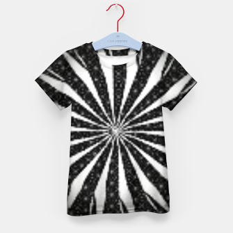 Miniature de image de Black and White Optical Illusion  Kid's t-shirt, Live Heroes