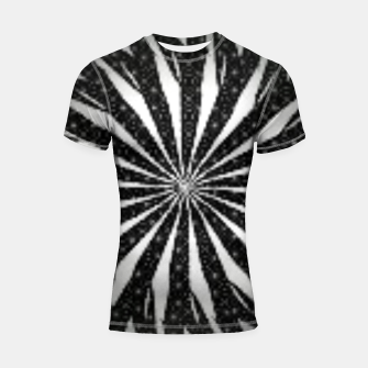 Black and White Optical Illusion  Shortsleeve rashguard thumbnail image