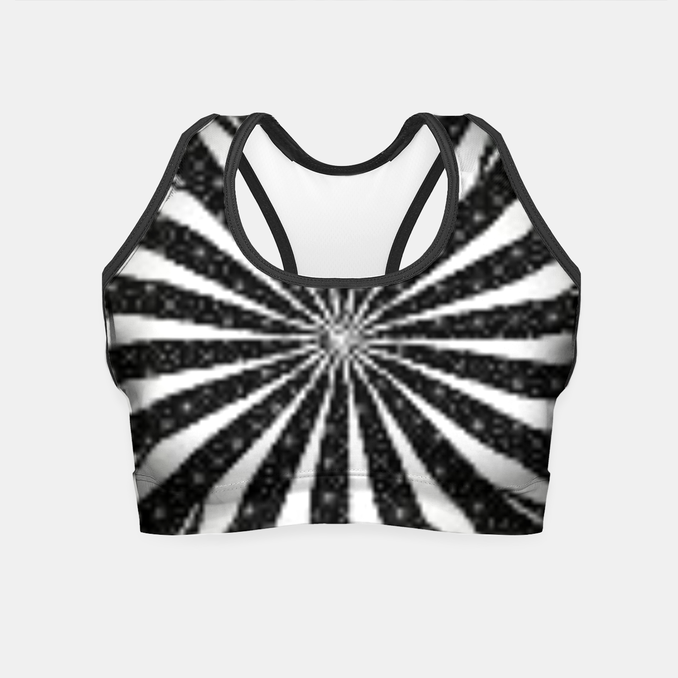 Image de Black and White Optical Illusion  Crop Top - Live Heroes