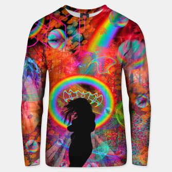 Autumn Fantasy Rainbow Witch (rainbow, psychedelic) Unisex sweater thumbnail image