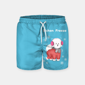 Thumbnail image of Bichon Freeze Swim Shorts, Live Heroes