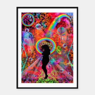 Autumn Fantasy Rainbow Witch (rainbow, psychedelic) Framed poster thumbnail image