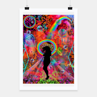 Autumn Fantasy Rainbow Witch (rainbow, psychedelic) Poster thumbnail image