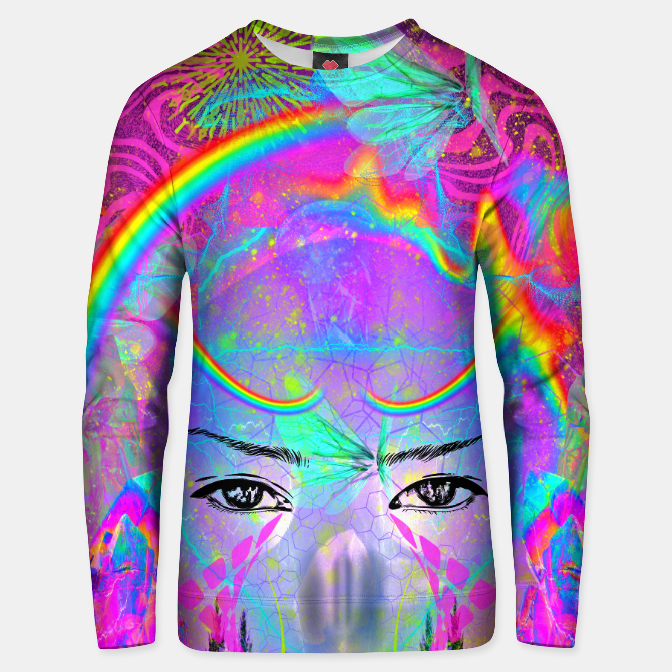 Image of Rainbow Crystal Psychic Unisex sweater - Live Heroes
