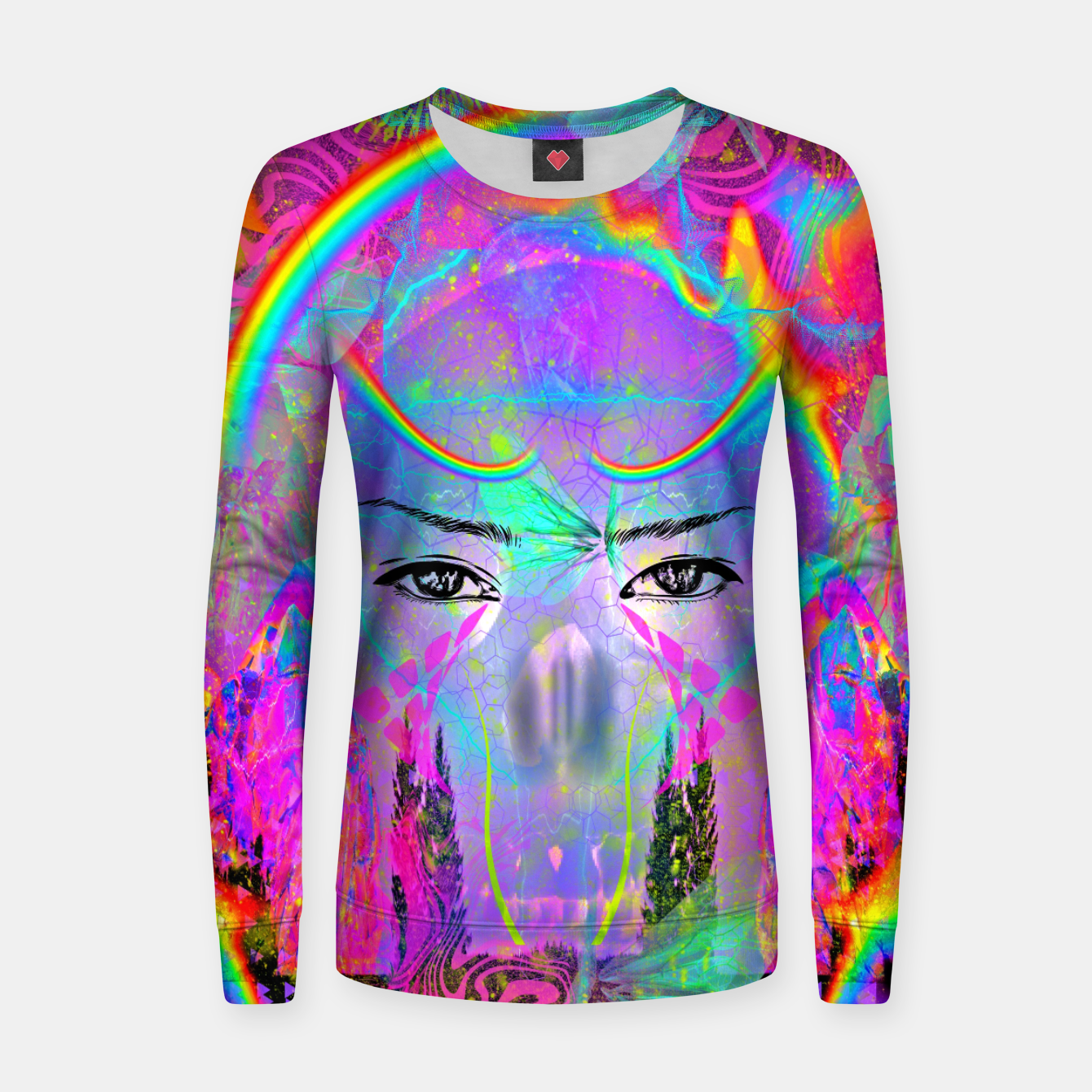 Image of Rainbow Crystal Psychic Women sweater - Live Heroes