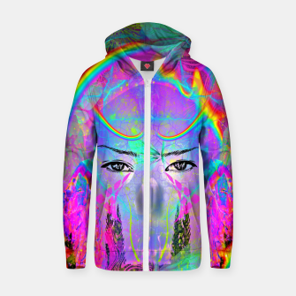 Rainbow Crystal Psychic Zip up hoodie thumbnail image