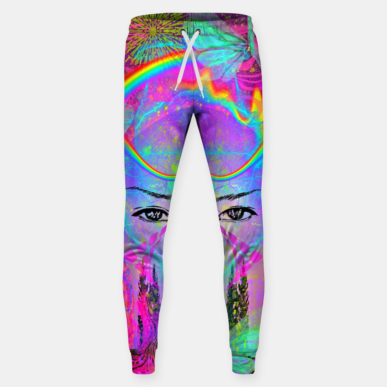 Image of Rainbow Crystal Psychic Sweatpants - Live Heroes