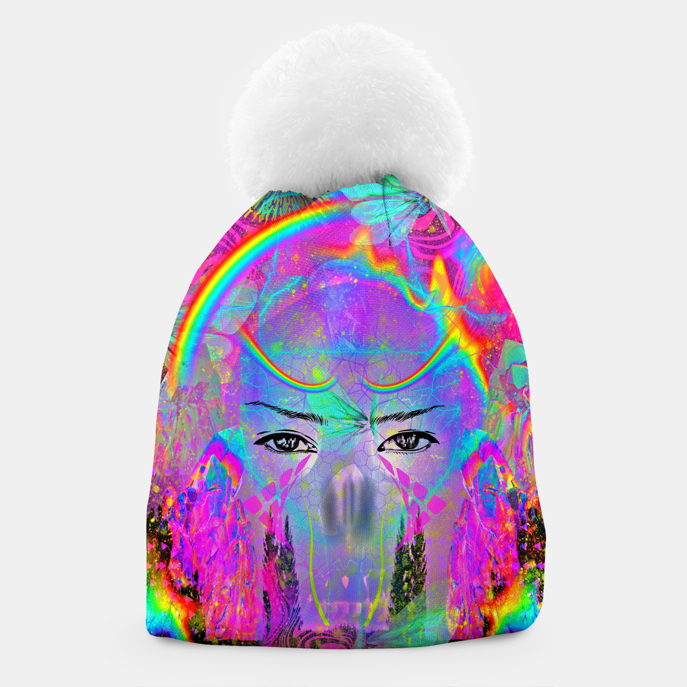 Image of Rainbow Crystal Psychic Beanie - Live Heroes