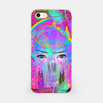 Miniatur Rainbow Crystal Psychic iPhone Case, Live Heroes