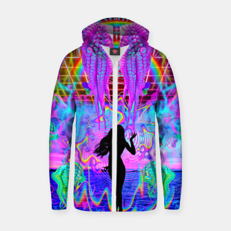 Octopus Sea Witch Zip up hoodie thumbnail image