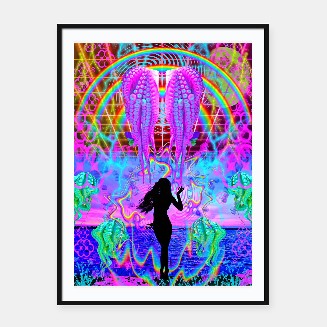 Image of Octopus Sea Witch Framed poster - Live Heroes