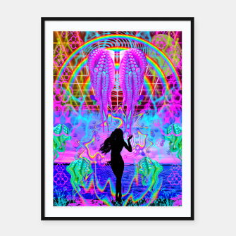 Thumbnail image of Octopus Sea Witch Framed poster, Live Heroes