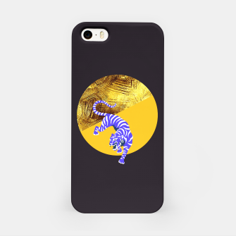 blue tiger iPhone Case thumbnail image