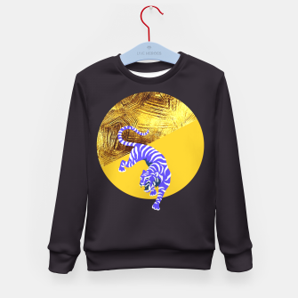 blue tiger Kid's sweater thumbnail image