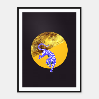 blue tiger Framed poster thumbnail image