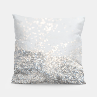 Silver Gray Glitter #3 #shiny #decor #art Kissen thumbnail image