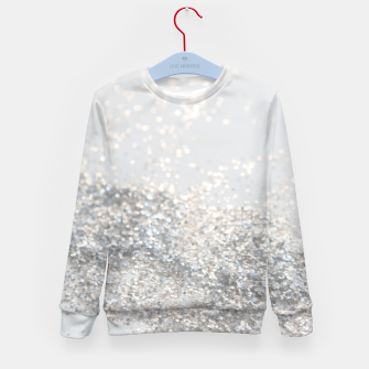 Silver Gray Glitter #3 #shiny #decor #art Kindersweatshirt thumbnail image