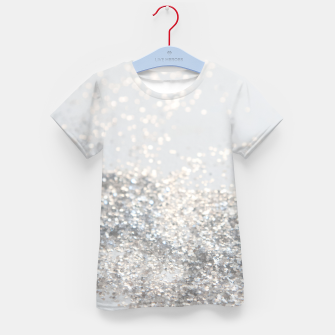 Silver Gray Glitter #3 #shiny #decor #art T-Shirt für kinder thumbnail image