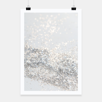 Silver Gray Glitter #3 #shiny #decor #art Plakat thumbnail image
