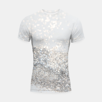 Silver Gray Glitter #3 #shiny #decor #art Shortsleeve rashguard thumbnail image